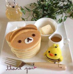 rilakkuma pancake.. >.