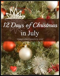 The Prudent Pantry: Twelve Days of Christmas in July - Day 5: Advent Calendar Ideas