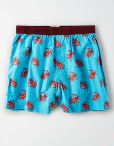 Shop Boxer Shorts for Men at American Eagle. Browse classic, flex, and warming boxers in new prints, colors and designs, available in sizes XS-XXXL. Hype Clothing, Mens Clothing Styles, Running Clothing, Mens Underwear Funny, American Eagle Boxers, Pj Pants, Khaki Pants, Sperrys Men, How To Make Shorts