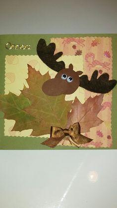 Isänpäiväkortti Autumn Crafts, Fall Arts And Crafts