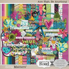 Aim High, Be Anything Digital Scrap Kit by Down This Road Designs and Victoria Feemster