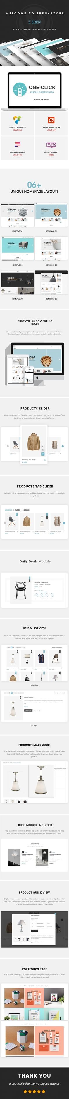 Google themes download for homepage - Eren Woocommerce Responsive Fashion Theme Woocommerce Eren Is Suitable For E Commerce Websites