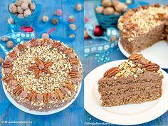 tort-cu-nuca-si-rom-intregt-si-detaliu Coffee Cake, Tiramisu, Sweets, Cakes, Cooking, Ethnic Recipes, Pies, Rome, Kitchen