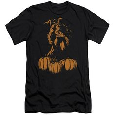 Batman - A Bat Among Pumpkins Adult Slim Fit T-Shirt
