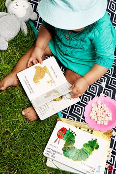 A family picnic in the park is a fun way to let Baby explore and play. Pack a bag with all the day-away must-haves, like a large blanket, yummy Plum Puffs organic snacks, and plenty of toys and books. Let the memory making begin!