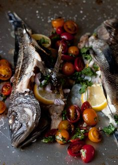 Baked Sea Bass with Cherry Tomatoes | Blogging Over Thyme