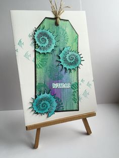 Mixed media card with design by Ryn stamps by kidmandesign
