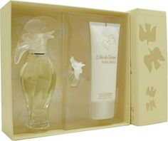 L'air Du Temps By Nina Ricci For Women. Set-edt Spray 3.3 OZ & Body Lotion 3.3 OZ & Eau De Toilette .08 OZ Mini by Nina Ricci. $58.24. This item is not for sale in Catalina Island. Packaging for this product may vary from that shown in the image above. Launched by the design house of Nina Ricci in 1948, L'AIR DU TEMPS is a women's fragrance that possesses a blend of a rich floral of gardenia and jasmine, with tones of sandalwood and iris, a romantic aroma.  It is rec...