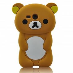 Cute Lazy Relax Bear Soft Silicone Cell Phone Case Cover for Samsung Galaxy S3 MINI i8190 - Galaxy S3 Mini i8190 Cases - Samsung Cases