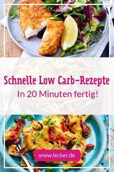 Schnelle Low Carb Rezepte In 20 Minuten Fertig Lecker Rezepte Low Carb Rezepte Low Carb Thermomix Rezepte