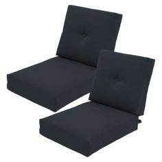 Threshold™ Squier Replacement Club Chair & Loveseat Cushion Set in Xavier Navy available at Target. Back Deck, Outdoor Cushions, Club Chairs, Pallet Furniture, Floor Chair, Home Projects, Outdoor Spaces, Love Seat, House