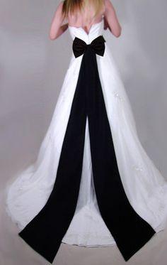 Long BLACK Wedding SASH Satin BOW for Bridal Dress Gown Bridal Prom Formal