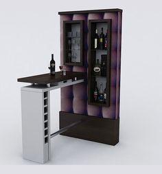 Un stand para bar con un estilo muy minimalista elegante y vistoso