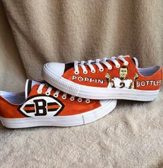 Custom Hand Painted Cleveland Browns Converse Shoes!! Featuring Johnny Football Manziel!! Cleveland Browns Football, Cleveland Ohio, Cleveland Rocks, Go Browns, Browns Fans, Brown Converse, Converse Shoes, Johnny Manziel, Brown Babies