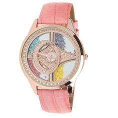 Melissa Leather Belt Women's Luxury Watch with Shaking