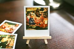 "Paul Gauguin's ""The Gossipers Conversation"" - Polaroid Picture"