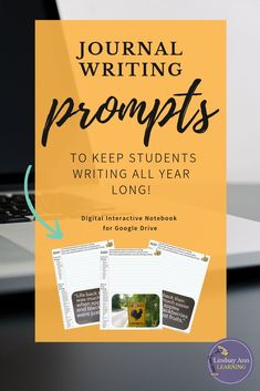Want to be sure you NEVER run out of writing prompts for your middle school or high school ELA class? This resource includes 300 writing prompts, both picture prompts and text prompts. Plus, you can use these English language arts resources in Google Classroom or in print, whichever fits better in your classroom! These writing activities can be used as bellringers, as formative assessments, in writing centers or writing stations, and more. Click through to buy now! #writingprompts #ELA…