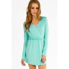 Obo Mint Long Sleeve Tobi Dress