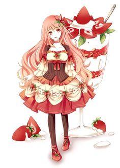 Strawberry anime girl