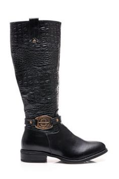 SALE - SNAKE PRINT, black shoes with gold decorative plaques Boots in classic black. Zipper closure is practical and comfortable. Flat heel. At the height of the ankle gold ornament. Shoes are comfortable, supplemented pattern. https://cosmopolitus.eu/product-eng-41673-SALE-SNAKE-PRINT-black-shoes-with-gold-decorative-plaques.html #Women #flat #boots #autumn #winter #fashion #elegant #fashion #design #cheap #women