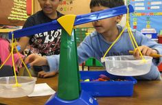 Teaching measurement/weight to Kindergarteners. Great ideas! (Several of which are low budget, which is always nice)