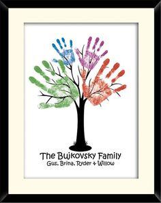 Family hand tree:) neat idea. Need to do this: