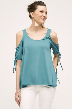 Cara Cutout Tee #anthropologie