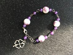 New from my Etsy shop https://www.etsy.com/ca/listing/483410419/4-leaf-clover-lucky-charm-bracelet-with