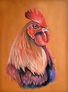 Rooster Painting, Rooster Art, Chicken Painting, Chicken Art, Free Printable Artwork, Colored Pencil Techniques, Chickens And Roosters, Animal Quilts, Hens