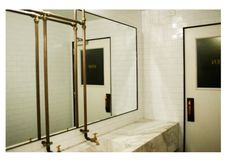 #bathroom copper pipes