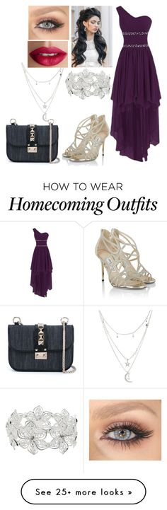 """""""School Ball #2"""" by madeinchina03 on Polyvore featuring Jimmy Choo, Charlotte Russe, Valentino, M&Co and TheBalm"""