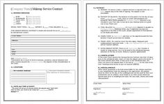 Contract for discounts | .:BeYOUtiful:. | Pinterest | Template ...