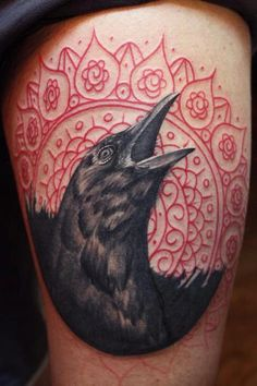 it's an almost exceptional tattoo. the mendhi design should have extended all the way to the bird though.