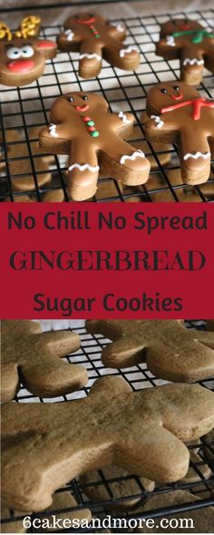 Chill No Spread Soft Gingerbread Cookies These no chill no spread Gingerbread sugar cookies are absolutely divine!These no chill no spread Gingerbread sugar cookies are absolutely divine! Soft Gingerbread Cookies, Holiday Cookies, Holiday Treats, Holiday Recipes, Decorating Gingerbread Cookies, Gingerbread Recipes, Christmas Recipes, Gingerbread Sugar Cookie Recipe, Summer Cookies