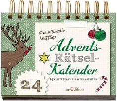 Ein Advents-Rätsel-Kalender mit 24 tollen Rätseln. Es muss nicht immer Schokolade sein. Mit einem Rätseladventskalender können Sie auch punkten.