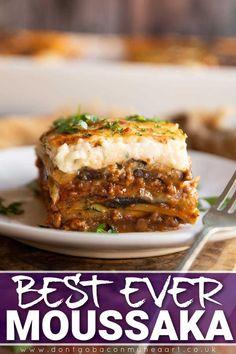 Best Moussaka Recipe, Moussaka Recipe Greek, Greek Recipes, Mexican Food Recipes, Cypriot Food, Tandoori Masala, Twisted Recipes, Greek Cooking, Greek Dishes
