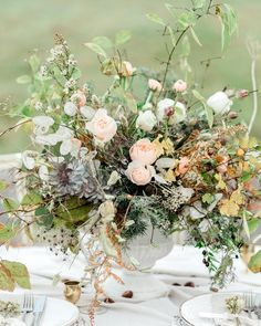"""Heavenly florals are such an intrinsic part of any beautifully designed wedding and we're thrilled to include the wonderful Caroline at @gatherandbloom as part of our directory of artisan wedding services. """"I prefer my work to evoke the essence of a gathered from the garden and hedgerows style using lots of fresh foliage seasonal flowers as well as British flowers where possible. Texture colour and scent are very important in all my designs. Particular attention is placed on seasonality the…"""