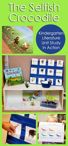 The Selfish Crocodile Kindergarten Literature Unit in Action #homeschool #kindergarten