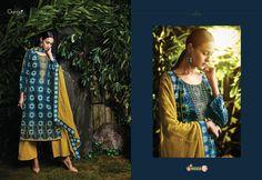 "Ganga Fashions Pvt Ltd Latest Cotton Satin Salwar Suit Collection "" CERULEAN"" Top : Cotton Satin Bottom : Cotton Dupatta : Pure Chiffon Buy From Our Official Site www.gangasaris.com"