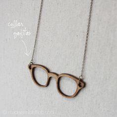 Collar Madera - Gafitas   madewithlofshop