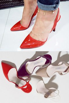 Today's Hot Pick :Patented Slingback Pumps http://fashionstylep.com/SFSELFAA0005608/myharooen/out Work your way to the top in these slingback pumps. Wear them with your officewear. - Pointed toe - Slingback strap - Patented synthetic leather material - High heels - Available color(s): Nude Beige, White, Red, Black