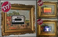 you take:  one digital picture frame,  one analog old fashioned picture frame  and put them together.  here you see whats happen!     . Very Stylish I must say. You can see some great frames here: