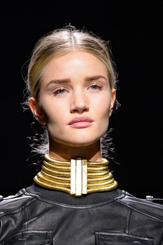 15 Accessory Trends To Update Your Look #refinery29  http://www.refinery29.com/accessory-trends#slide40  In-Your-Face Chokers — Forget those fussy rhinestones. This season's statement necklace is big, bold, but totally clean. Balmain.