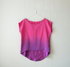 Ombre Silk Shirt  An Ode to Rothko No 4  Rose by xsilk on Etsy, $95.00