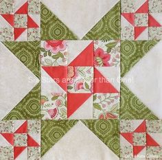 """Six Stars Are Better Than One - quilt block tutorial (12"""" finished) 