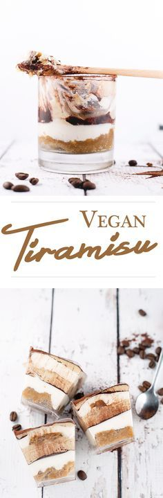 """Decadent Tiramisu - you won't believe it's 100% Vegan. Coffee/Kahlua Soaked Sponge and Vegan """"Mascarpone"""" Filling-- Substitute other sweetener if you can't do agave, use fodmap friendly flour/mixed flours, use redwine vinegar, substitute tolerated nuts for cashews!"""