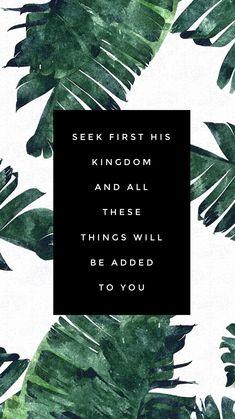 Bible Devotional, Bible verse, Matthew 6:33, Jesus, Bible
