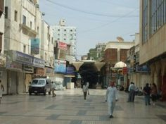 The entrance to the souks ( shops) in Jeddah. Walked through here.