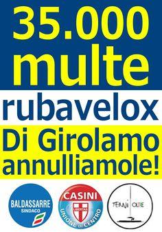 35.000 multe >>> 'rubavelox' >>> Di Girolamo, annulliamole!  >>>DifendiAmoTerni<<