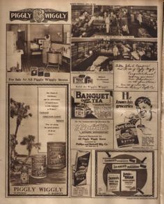 Full page promoting Piggly Wiggly grocery store. Nashville Tennessean, 1928 September :: Picturing Nashville in Rotogravure, Country Stores, Piggly Wiggly, Retro Ads, Grocery Store, Nashville, Tennessee, September